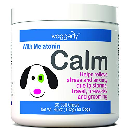 Calming Aid for Dogs, Stress & Anxiety Relief, Natural Remedy That Helps w/ Separation Anxiety, Travel, Grooming, Storms & Other Loud Noises, Contains Melatonin for Dogs, Made in USA, Calm (VitaCalm)