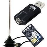 August DVB-T202 - DVB-T USB TV Stick - PC Fernseher Tuner und Digital Recorder - Windows 8 / 7 / Vista / XP PC TV Dongle mit Antenne und Fernbedienung