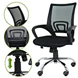 Elecktra Mesh Low Back Computer Staff Rotating Metal Task Cushion Chair W/ Wheels Adjustable Tilt Chair For Computer & Office Desk