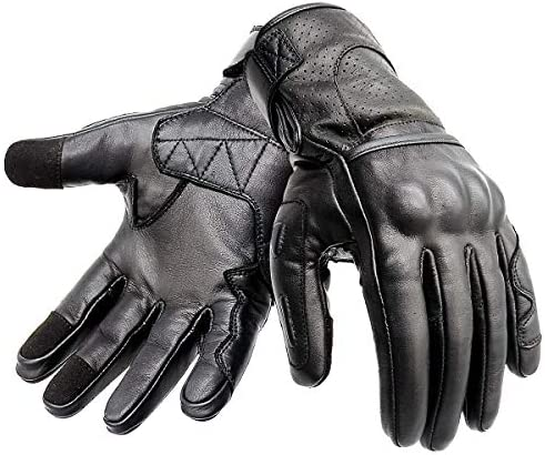 Hand Fellow Premium Leather Motorbike Motorcycle Gloves Hipora Water Proof Thermal Lining Winter gloves Compatible Wind Proof Ski Gloves Large