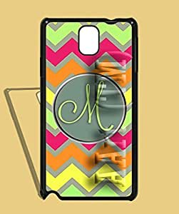 Personalized Monogram Note 3 Case - Galaxy Note 3 Galaxy Note 3 Galaxy Note 3 / Zigzag Strips Samsung Galaxy Note 3 High Quality Hard shell Case Design by AArt (TM) Kimberly Kurzendoerfer