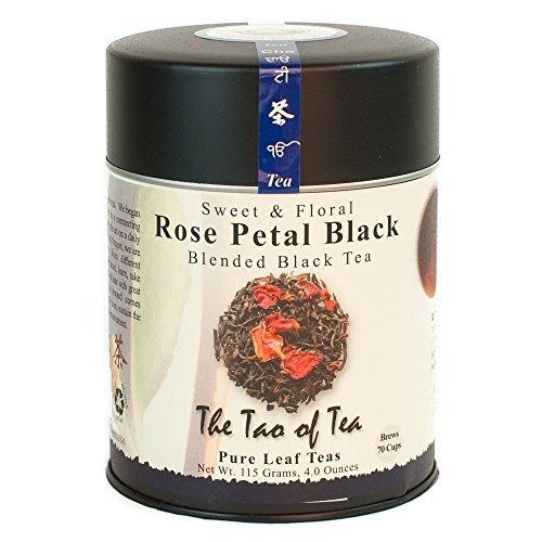 The Tao of Tea, Rose Petal Black Tea, Loose Leaf, 4-Ounce (Rose Ice Cream)