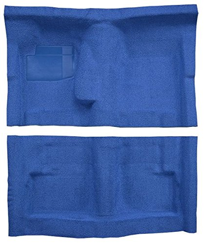 1974 to 1975 Dodge Charger Carpet Custom Molded Replacement Kit, 4 Speed, Bench Seat (8170-Regatta Blue Plush Cut ()