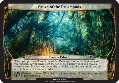 Magic: the Gathering - Grove of the Dreampods - Planechase 2012 Oversized Cards