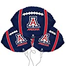 University of Arizona Logo College Football Mylar Balloon 3 Pack