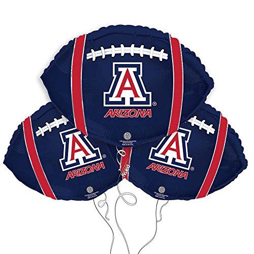 University of Arizona Logo College Football Mylar Balloon 3 Pack