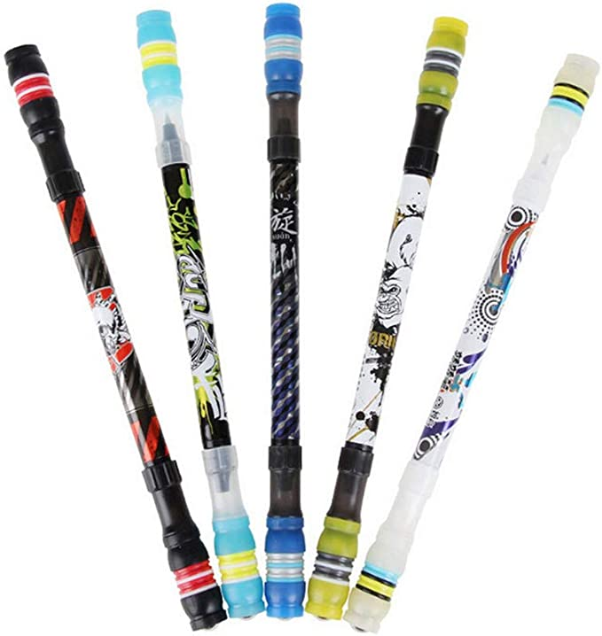 Ball Point Penspinning Non Slip Coated Spinning Pen Learning Office Supplies HL