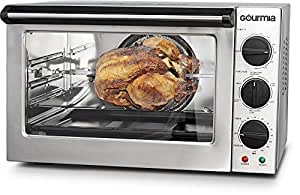 Gourmia S2000 Extra Large Professional Convection Oven - Dual Mode Rotisserie - Insulated Door - Extra Large Capacity - 1.5 cu. ft./42L - 1700W - Stainless Steel