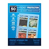 Samsill 50 Pack 4 Pocket Clear Sheet