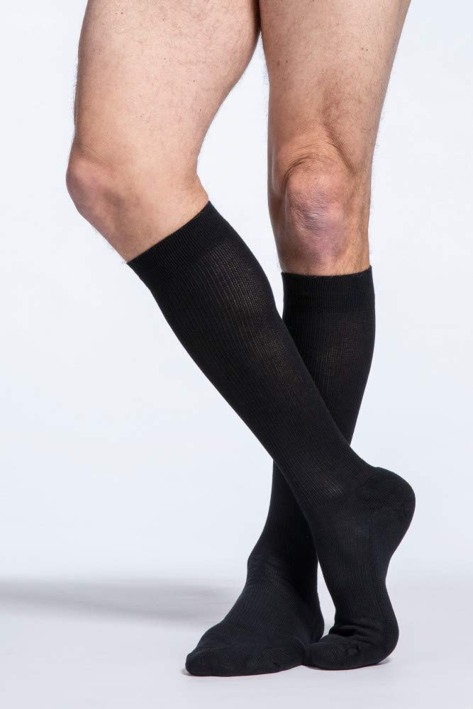 SIGVARIS Men's Cushioned Cotton 182 Calf High Compression Socks 15-20mmHg by Sigvaris