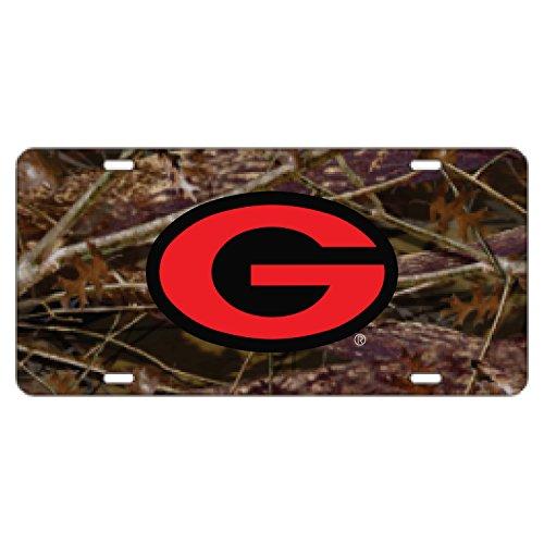 Sports Addiction Georgia Bulldogs CAMO Mirror Laser License Plate Tag Red/Black G Logo