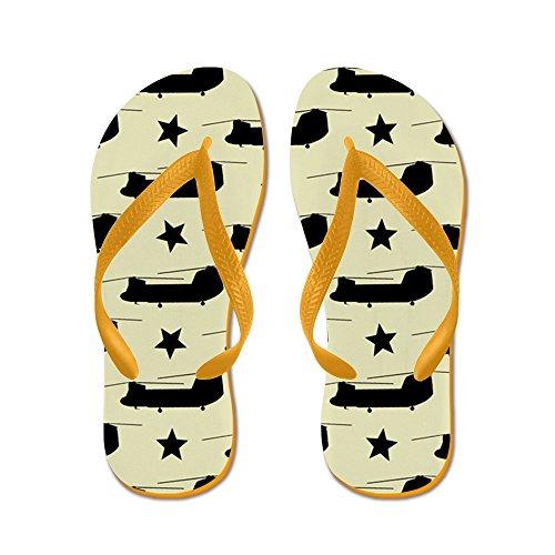 CafePress U.S. Army: CH-47 Chinook (Sand) - Flip Flops, Funny Thong Sandals, Beach Sandals Orange