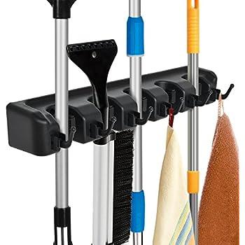Amazon Com Mop Broom Holder Garden Tools Wall Mounted