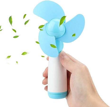 Welltop Mini Ventilateur De Poche à Piles Ventilateur De Refroidissement électrique Personnel Avec Lame éponge Pour La Maison Les Voyages Le