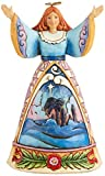 Jim Shore for Enesco Heartwood Creek 4.75-Inch Nativity Angel Figurine, Mini