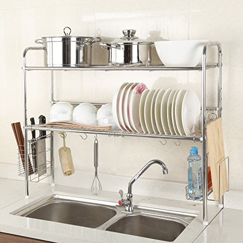1208S 2-Tier Stainless Steel Dish Drying Holder Rack (Double Groove-Two-layer) by 1208S (Image #6)