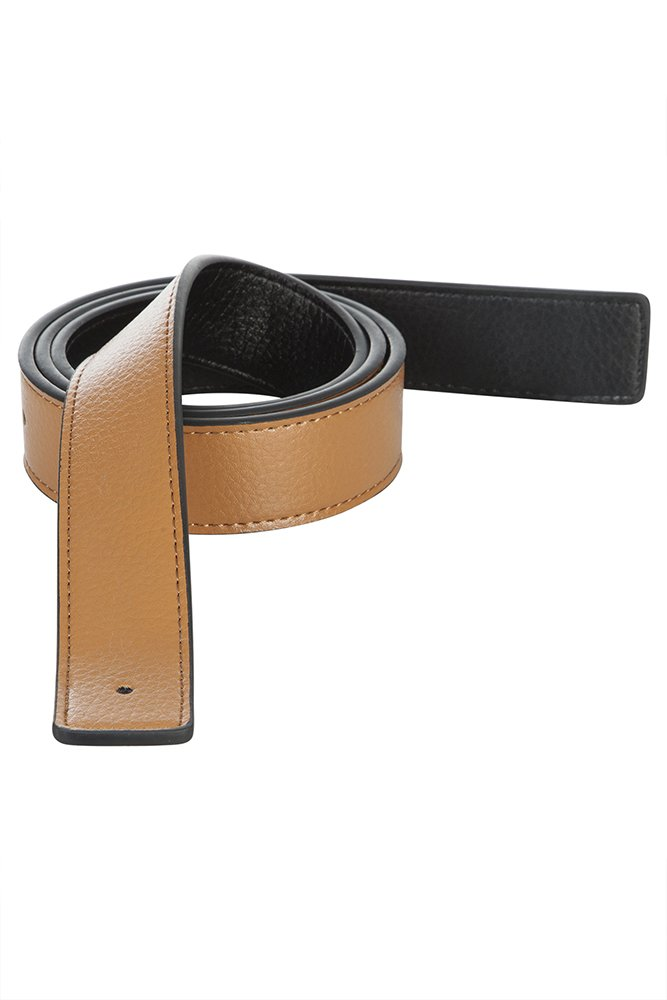 Men's Reversible Leather Belt Strap Hermes Replacement, Navy, Tan, White, Brown