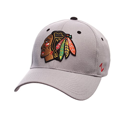 ZHATS NHL Chicago Blackhawks Men's Breakaway Cap, Large, Gray