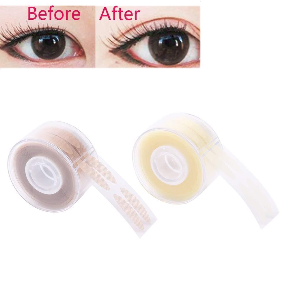 BESTEU 600pcs S/L Ultra Invisible Faser Doppel-Augenlid-Klebeband Aufkleber, klare Dekoration Falten Augenlid Band Augenlid große Augen Make-up