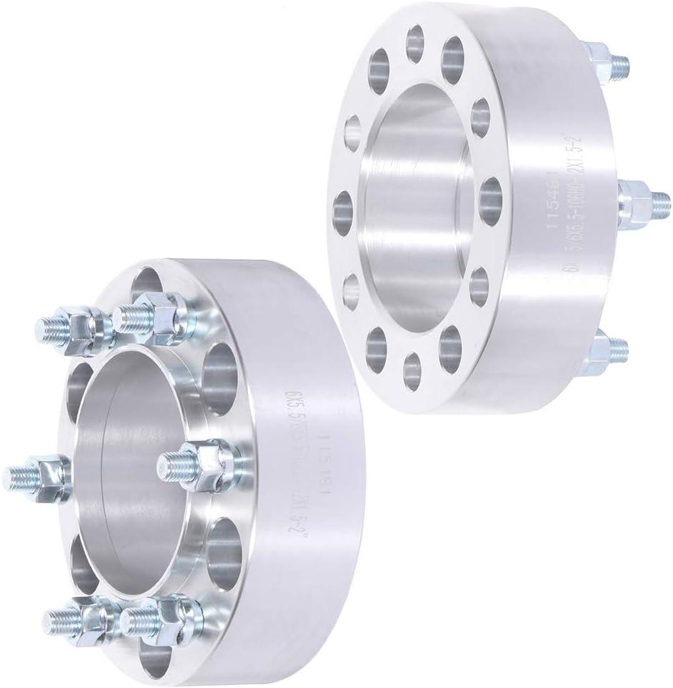 cciyu 6 Lug 4X 50mm Wheel spacers 2 inch 6x5.5 to 6x5.5 12x1.5 106mm Compatible with Toyota Tacom Toyota Pickup Toyota Tundra