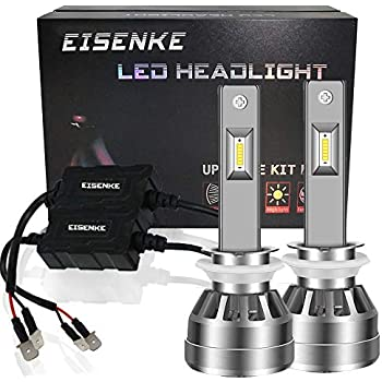 EISENKE H1 P145S Led Headlight Bulbs i7S, For auto Cars Super Bright Conversion Kit Headlamps High Beam 40w low Beam 20W -80W 8000lm 6000K Cool White FLP ...