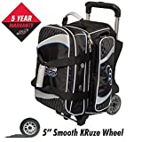 Cheap Columbia 300 Team 2 Ball Roller Bowling Bag, Black/Silver