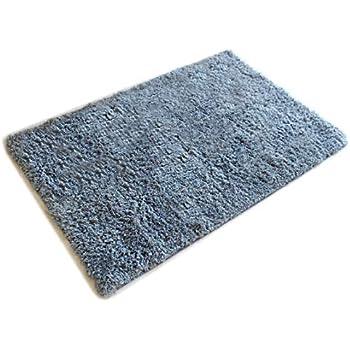 Amazon Com Masada Rugs Gray Bath Mat Rug Shag Non Slip