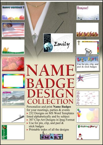 ScrapSMART - Name Badge Designs - Software Collection - Jpeg & Microsoft Word files for Mac [Download] ()