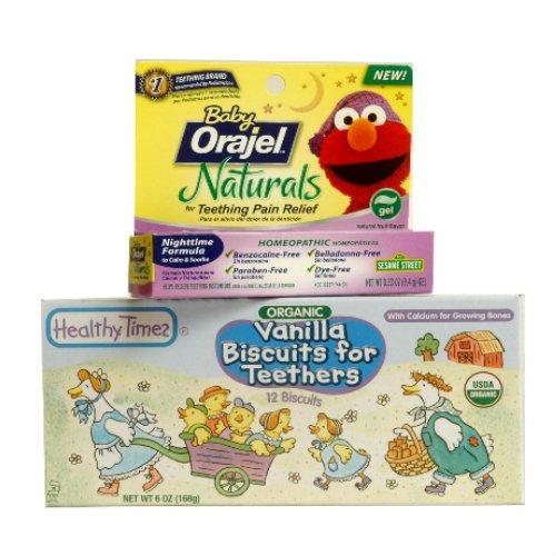 Organiques vanille Biscuits de dentition et bébé Orajel Naturals Bundle