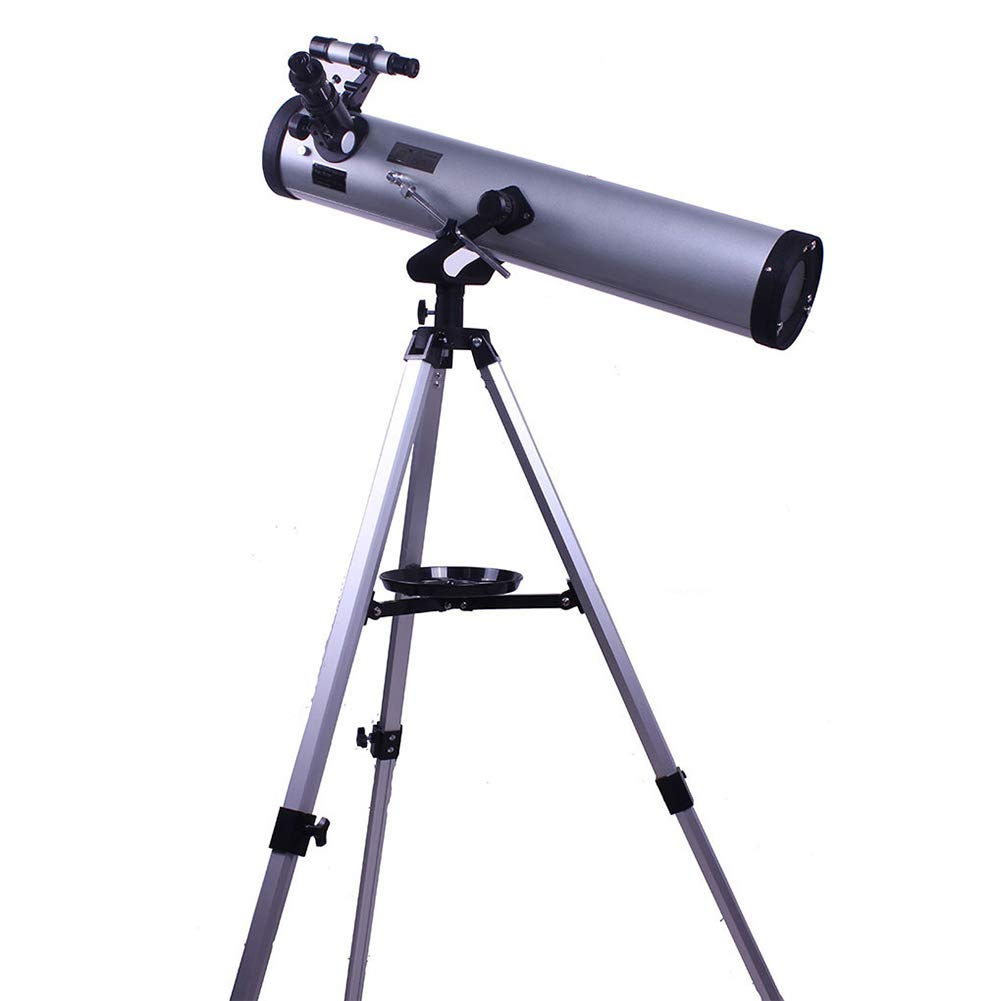 JLNHSDR Astronomical Reflector Telescope,76mm Aperture and Aluminum Alloy Tripod, 2X Barlow Lens and Moon Filter for Kids and Astronomy Beginners by JLNHSDR