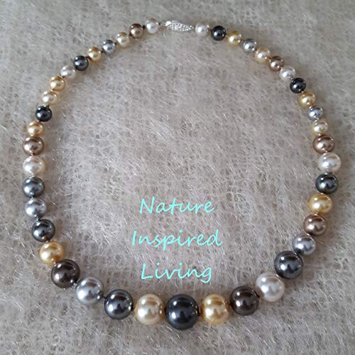 10mm Golden 18 Necklace Pearl - 18
