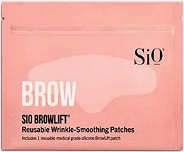 SiO Beauty BrowLift Forehead Anti-Wrinkle Patch - Rapid Overnight Reusable Silicone Patch to Reduce Furrows, Expression Lines, and Creases