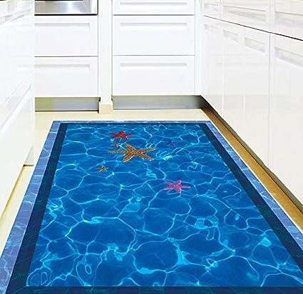 Daadi Decorativo Tridimensional en el Suelo del baño Muro Impermeable Pegatina de Carteles, Pegatinas para
