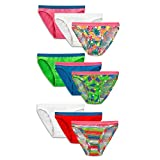 Fruit of the Loom Big Girl's 9-Pack Bikini