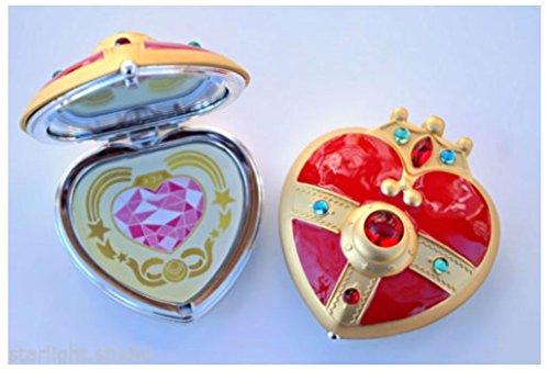 Sailor S Cosmic Heart Compact Mirror Brooch Locket Cosplay Doll Prop
