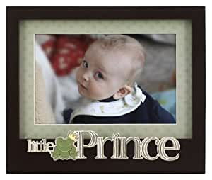 Malden International Designs Baby Memories Little Prince Black Wood Picture Frame, 4x6, Black