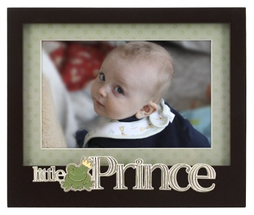 Prince Gift (Malden International Designs Baby Memories Little Prince Black Wood Picture Frame, 4x6, Black)
