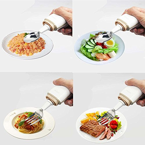 GYENNO Parkinson Spoon For Hand Tremor,Smart Anti-Tremble Steady Spoon Comfortable Safe Integrates Intelligent Control Modules For People with Hand Tremor by LONPOO (Image #7)