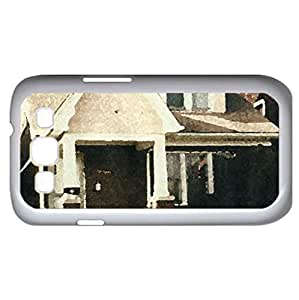 My house in Detroit (Houses Series) Watercolor style - Case Cover For Samsung Galaxy S3 i9300 (White)