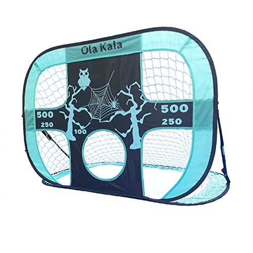 OlaKala Pop Up Soccer Goal 2 In1 Target Soccer Goal With Target and Carrybag For Indoor and Outdoor Practice Training Sports (Baby Blue) Review