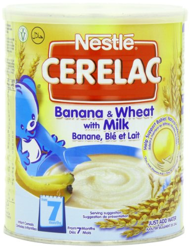Nestle Cerelac, Banana and Wheat With Milk, 14.11 Ounce Can