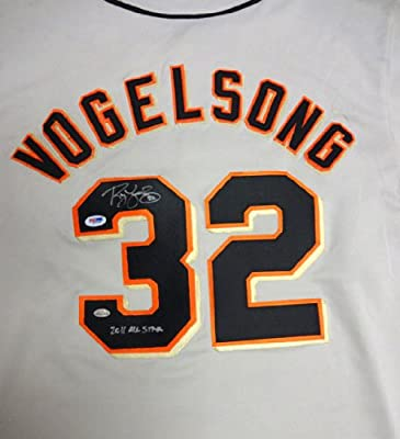 "Ryan Vogelsong Autographed San Francisco Giants Gray Jersey ""2011 All Star"" PSA/DNA Stock #51693"