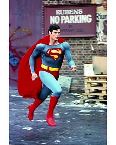Globe Photos ArtPrints Christopher Reeve Running In Superman Costume - 8