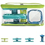 Toy Bags - Kidenza Toy Storage. Large Set. 4 Pack: LIME, TURQOUISE, BLUE
