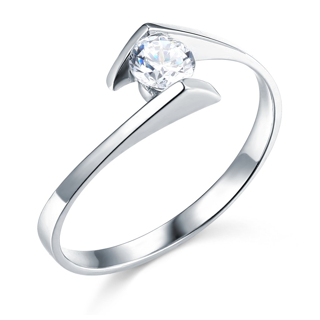 14k White Gold SOLID Wedding Engagement Ring The World Jewelry Center