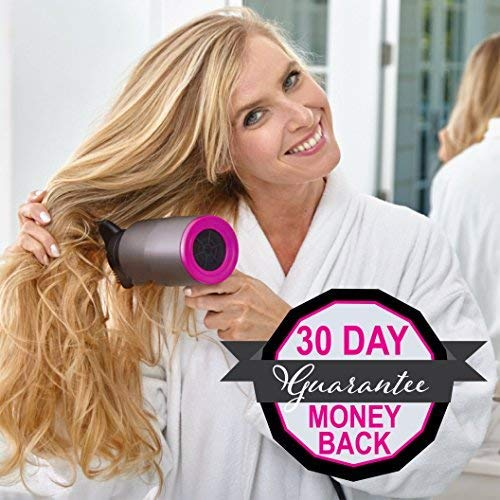 SILK FACTOR Pro 1375 Watt Infrared Technology Hair Dryer - Protects, Adds Shine, and Blow Dries Hair 50% Faster for Salon Quality Results - Gun Metal Grey