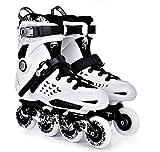 Inline Skates For Men Unisex Racing PP Material white-Black , 42