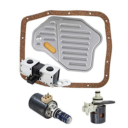- labwork-parts 4R70W AODE Transmission Solenoid Set Filter Kit for EPC TCC Lockup Shift 98-04