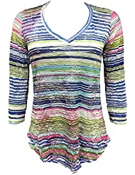 David Cline Online Womans V-Neck Crushed Shirt. Super Soft Fabric. Fun Design.