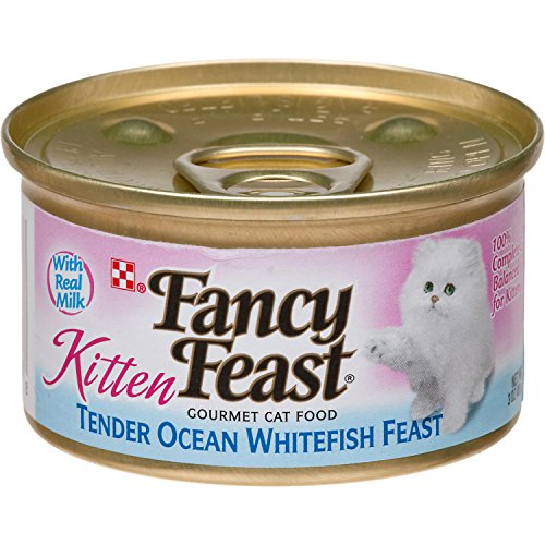Fancy Feast Gourmet Kitten Tender Ocean Whitefish Feast Canned Cat Food 24 - 3oz Cans